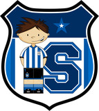 S is for Soccer Learning Illustration