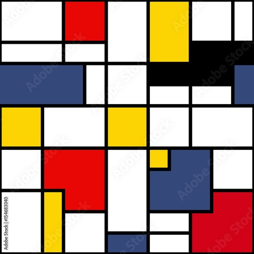 Seamless geometric abstract pattern. Vector. © automation5