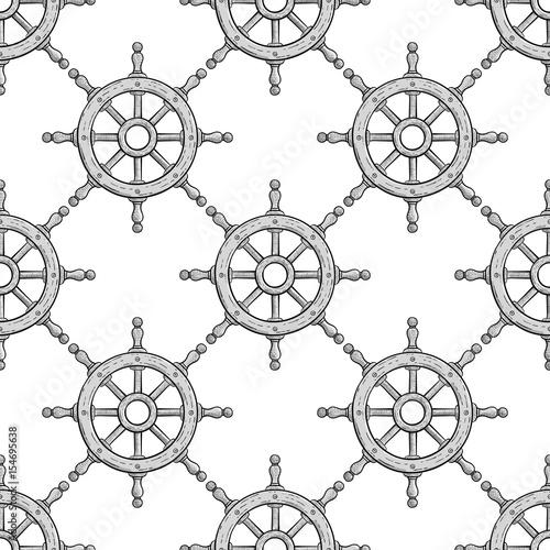 kierownica-bezszwowy-wzor-zarys-recznie-rysowane-szkic