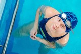 Young Caucasian Girl in Pool
