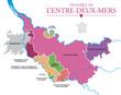 Carte Vignoble Entre-Deux-Mers