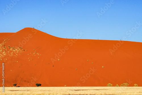 In de dag Oranje eclat Namibia - Sossusvlei