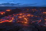 Flowing lava in Hawaii - 154755222