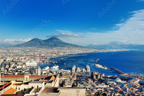 In de dag Napels Naples, Italy, Europe - panoramic view of the gulf and Vesuvius volcano