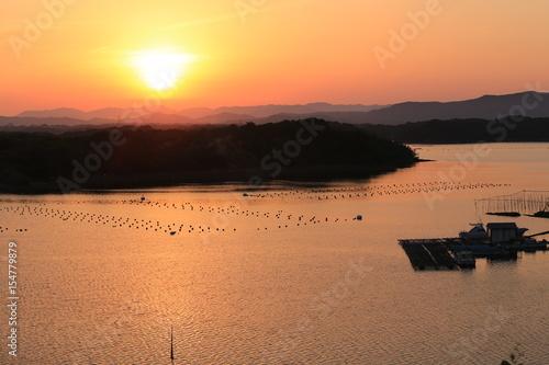 英虞湾に沈む夕日