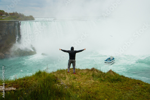 The man above the Niagara Falls, Canada Photo by LindaPhotography