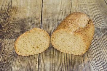 Una pieza de pan de soja