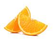 Quadro Slice of Orange isolated the white background