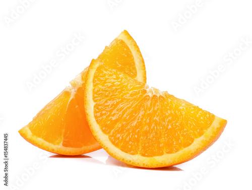 Slice of Orange isolated the white background
