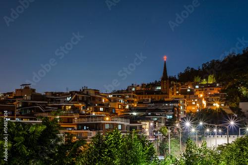 Fotobehang Seoel Buldings into the night