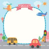 cute road template