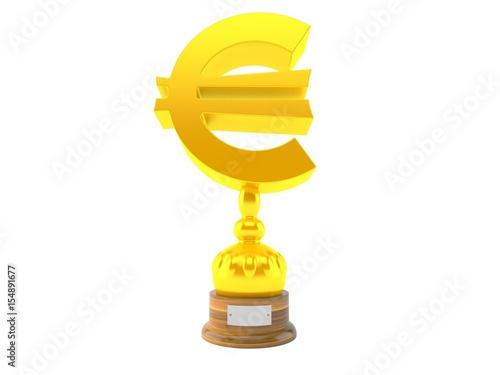 Foto op Canvas Euro currency trophy