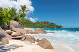 Beautiful beach Anse Intendance at Seychelles, Mahe.