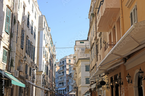 Corfu town street summer season