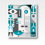 Abstract Art Geometric Portrait