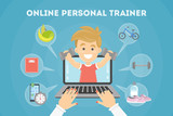 Fototapety Personal trainer online.