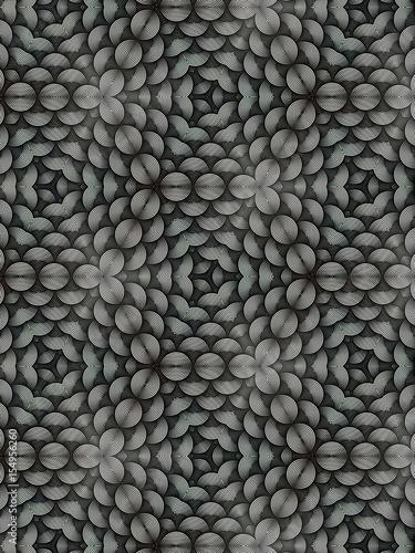 Póster Kaleidoscope from circular lines