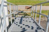Stahltreppe mit Stufen