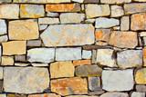 Colourful dry masonry