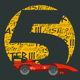 Number five with a formula one car