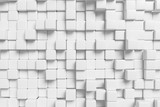 Abstract white cubes wall, 3d background