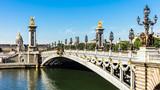 Pont Alexandre III Bridge with Hotel des Invalides. Paris, France