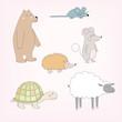 Set of happy cartoon animals - 155048801