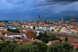 Classic panorama of Florence in twilight