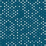 Seamless white and blue polka dot pattern background