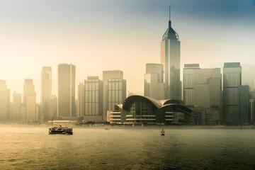Hong Kong skyline and victoria harbour ,Hong Kong.