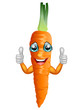 Cartoon carrot giving thumbs up. Vector illustration - 155073887
