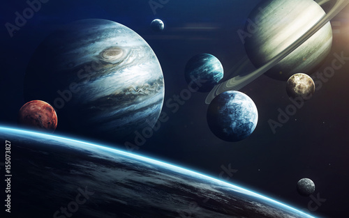 Plexiglas Nasa Planets of Solar system. Elements of this image furnished by NASA
