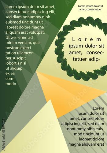 Deurstickers Geometrische dieren Abstract flyer design background. Brochure template.
