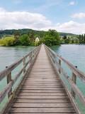 Holzbrücke zur Klosterinsel Werd