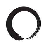 Black Zen Circle Minimalistic Vector