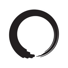 Black Zen Circle Minimalistic Vector