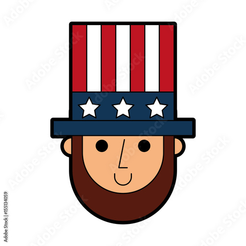 abraham lincoln with hat comic character vector illustration design