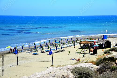 Spoed canvasdoek 2cm dik Cyprus Faros beach, Larnaca, Cyprus