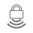 security wifi icon on white background