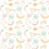 Healthy food seamless pattern - 155163858