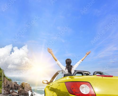 Summer car trip vacation.