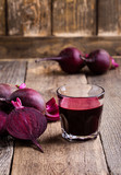 Organic healthy beetroot juice