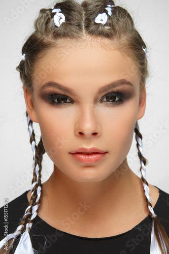 Beautiful girl with perfect tan skin Poster