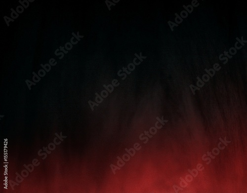 Dark black background with red gradient mystical darkness mysterious background © sangriana