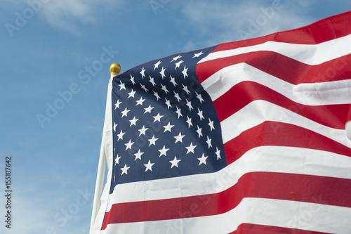 Poster Single Waving American Flag