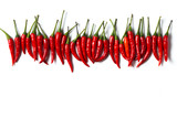 Red chillies isolated over white background