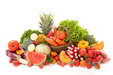 fruit and vegetable isolated on white background