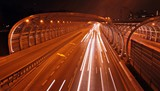 Speed road at night