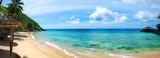 Panoramic of tropical Malaysian beach