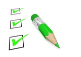checkboxes and pencil - 155286205